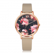 Elegant Flower Patterned Women's Watches