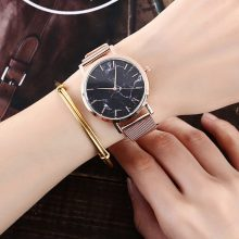 Marble Patterned Steel Women's Watches