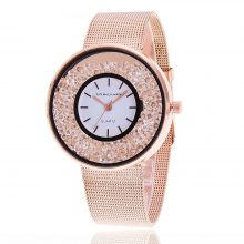 Crystal Rhinestone Steel Women's Watches