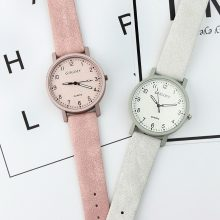 Casual Nubuck Leather Women's Watches