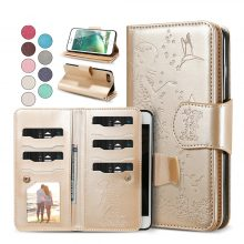 Wallet Phone Case Women Leather Case Cover For iPhone 7 6 6S 8 Plus Mirror Case Accessories